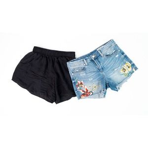 """Embroidered Jean Shorts Blank NYC """"Hiker Short"""""""